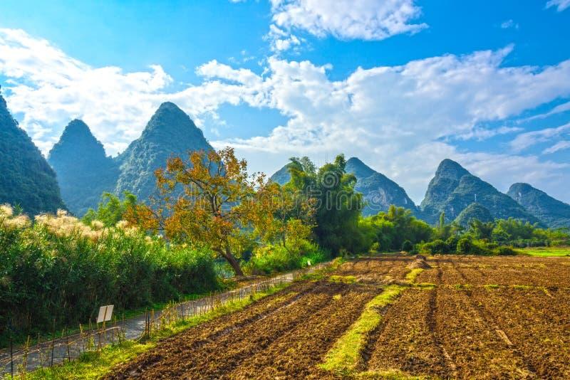 Paysage de rivière de Yulong photographie stock