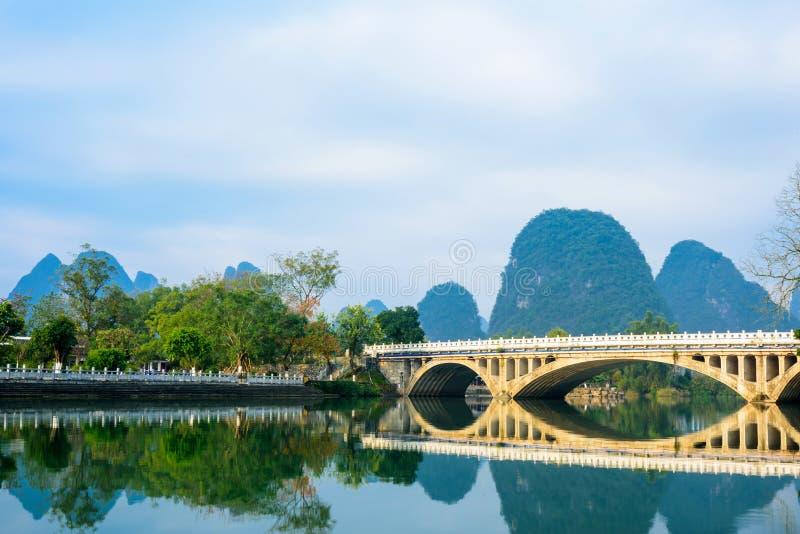Paysage de rivière de Yulong photo stock