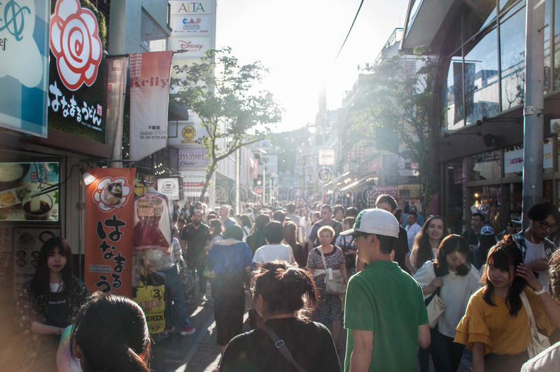 Paysage de rue de Takeshita photo libre de droits