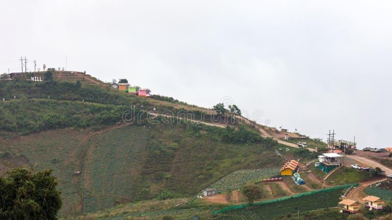 Paysage de ruine de plantation de station de vacances photo stock