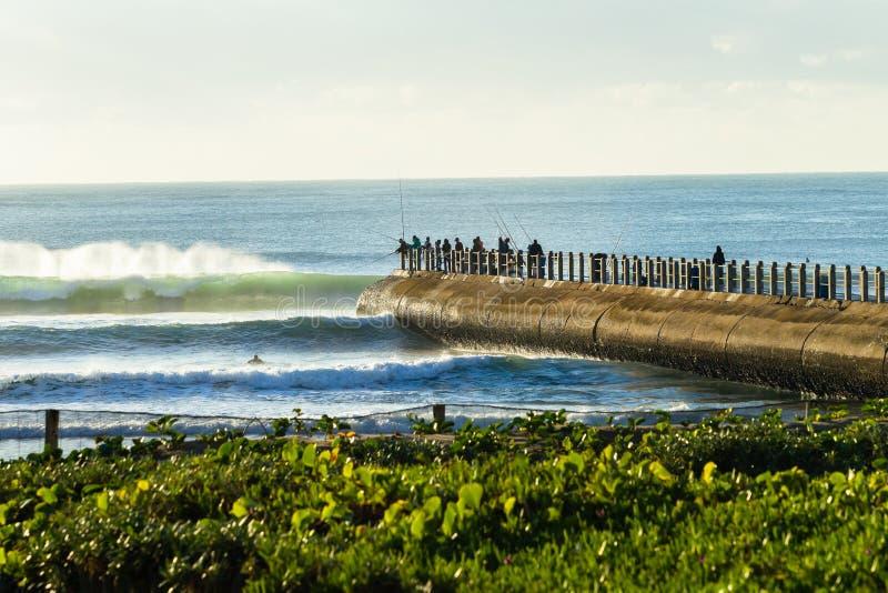 Paysage de sports d'océan de plage photographie stock libre de droits