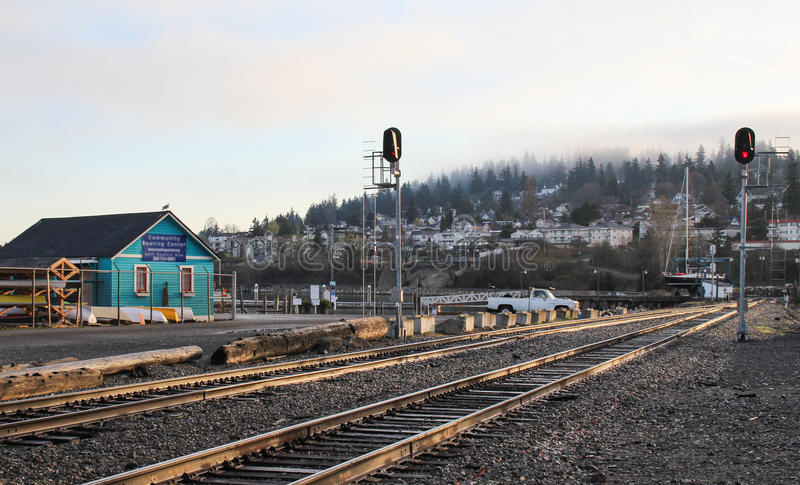 Paysage de station de Bellingham photo libre de droits