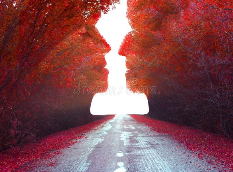 Paysage de surreall d'automne images libres de droits