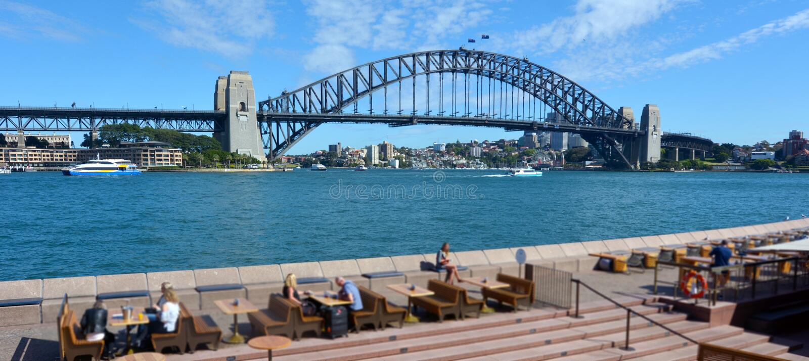 Paysage de Sydney Harbour Bridge Sydney New sud du pays de Galles Austra photographie stock libre de droits