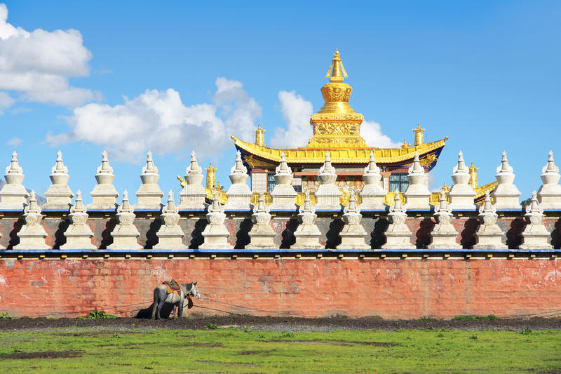 Paysage de temple photos libres de droits