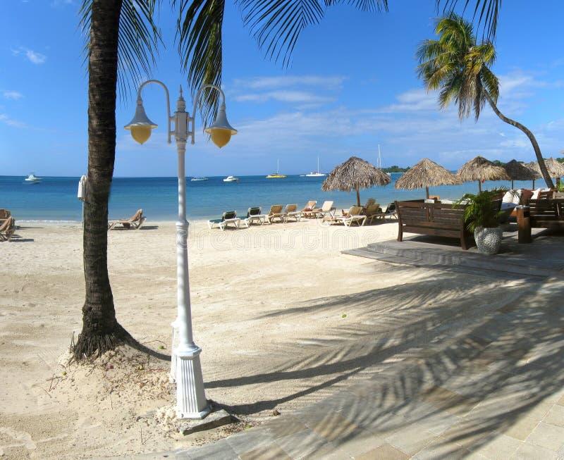 Paysage de vacances de plage image stock