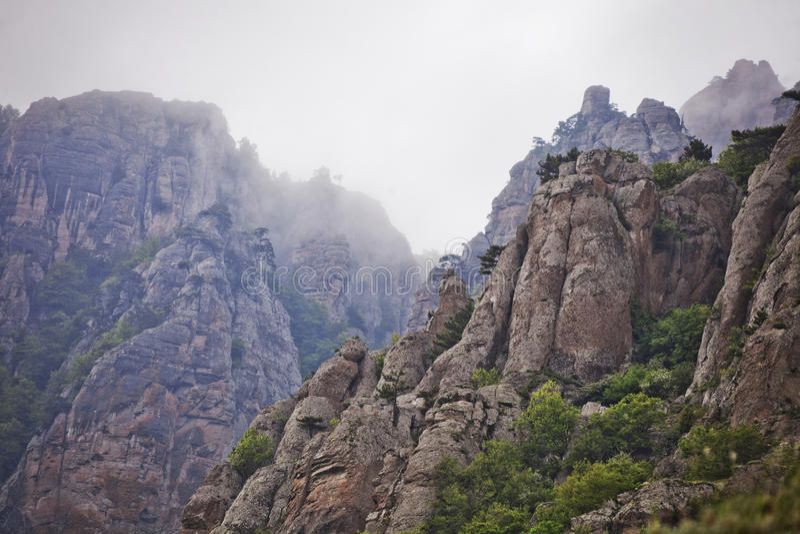 Paysage de vallée de Ghost, Mountain View de Demergi crimea images libres de droits