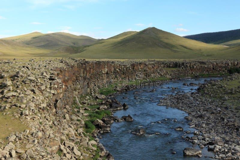 Paysage de vallée Mongolie d'Orkhon photos stock