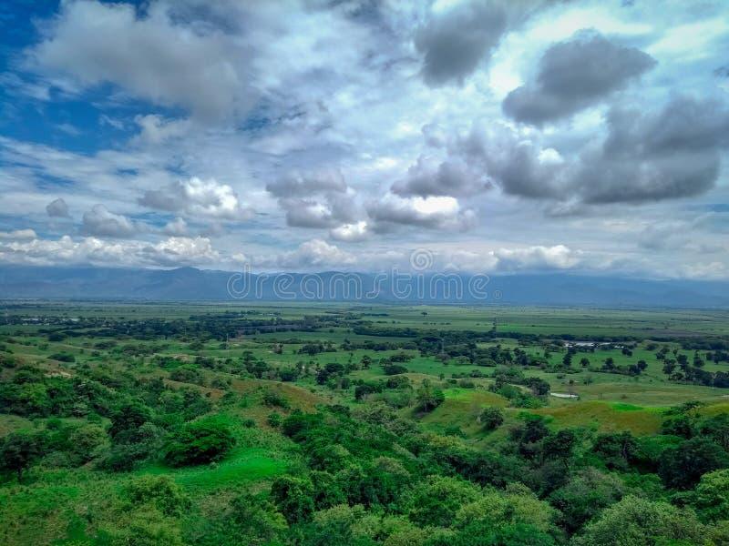 Paysage de Valle del Cauca photo stock