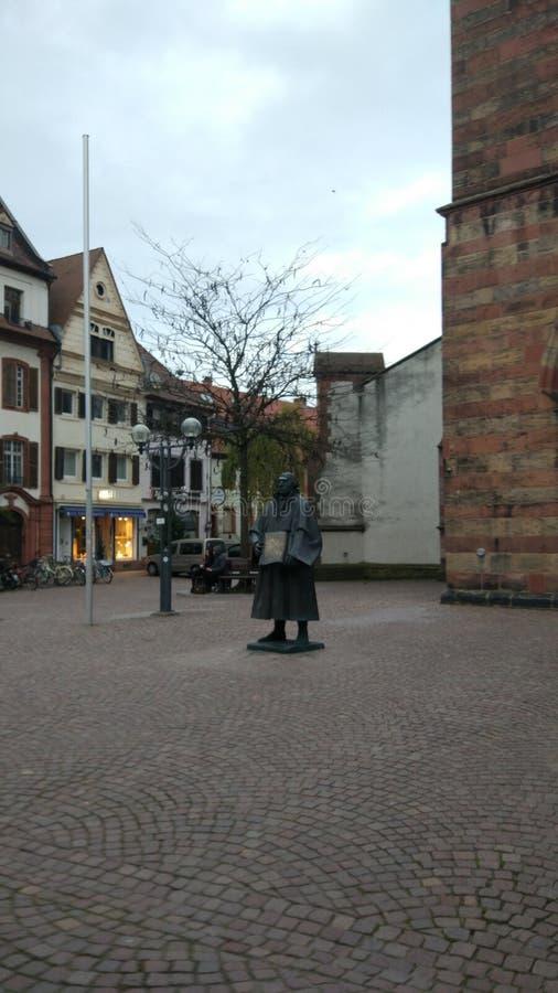 Paysage de vert de sérénité de landau de l'Allemagne photographie stock libre de droits