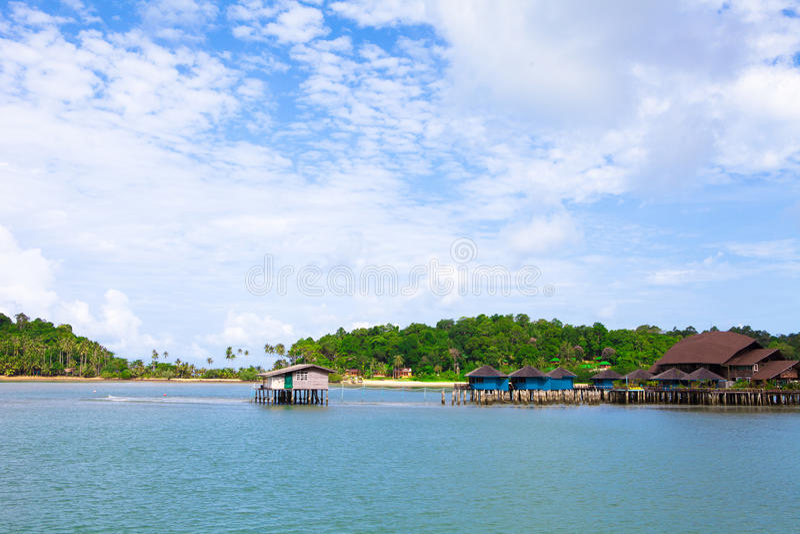 Paysage de village de pêche de bangbao de KOH de la Thaïlande photos libres de droits