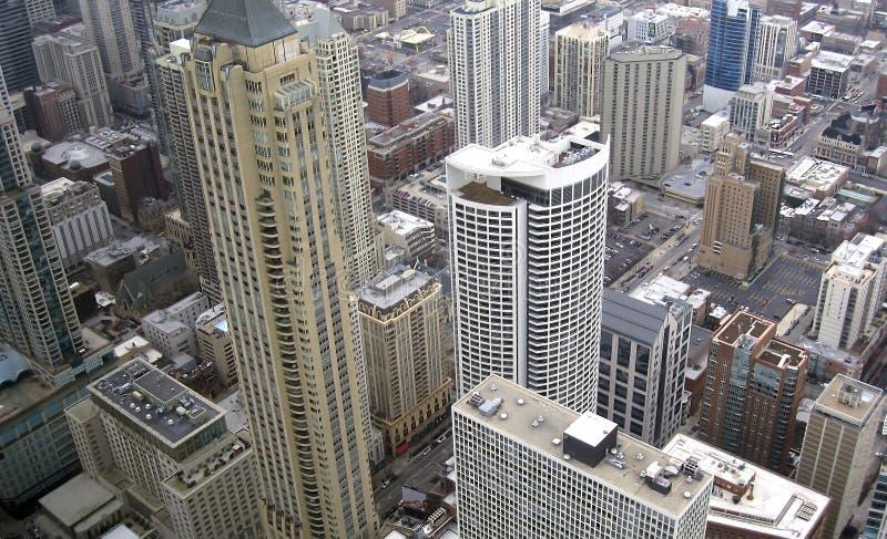 Paysage de ville de Chicago, zone résidentielle photo libre de droits