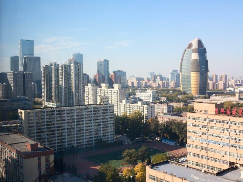 Paysage de ville moderne, Pékin images stock
