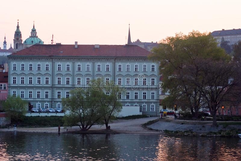 Paysage de ville, Vltava prague Czechia image stock