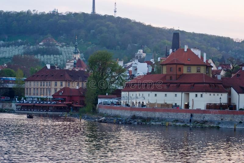 Paysage de ville, Vltava prague Czechia photos stock