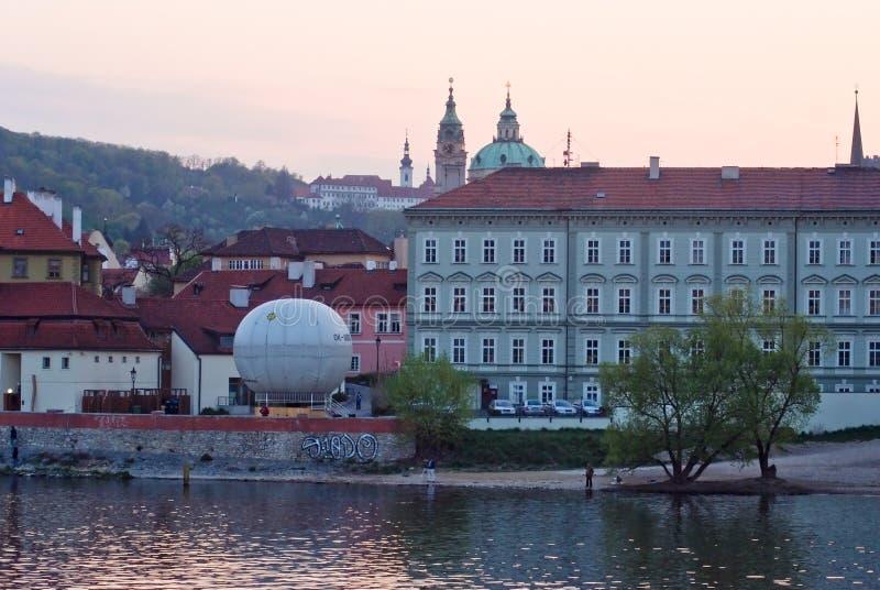 Paysage de ville, Vltava prague Czechia image libre de droits