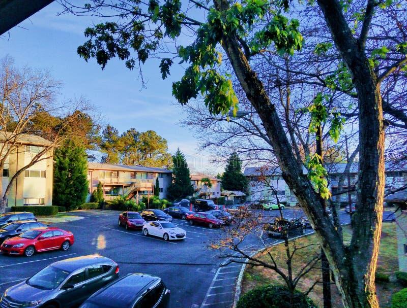 Paysage de voisinage d'Atlanta images stock