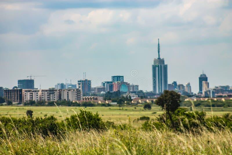 Paysage de vue d'horizon de Nairobi images stock