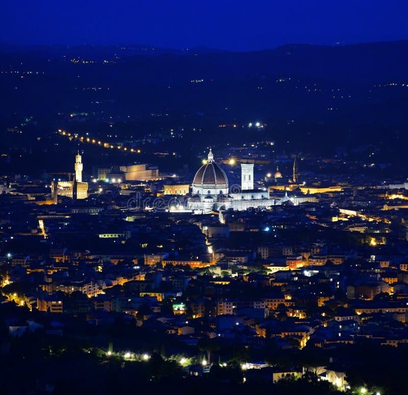 Paysage de wonderfull de l'Italie de ville de bynjght de Florence images libres de droits