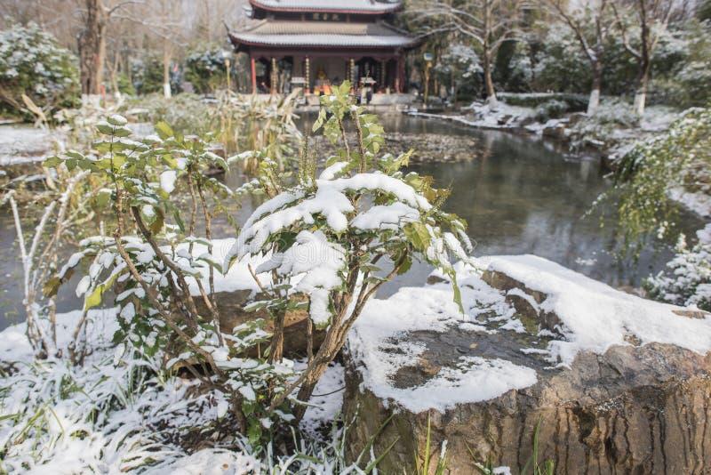Paysage de Xiamafang après la neige image stock