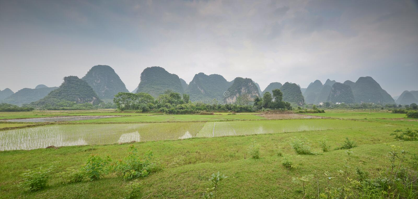 Paysage de Yangshuo photo stock