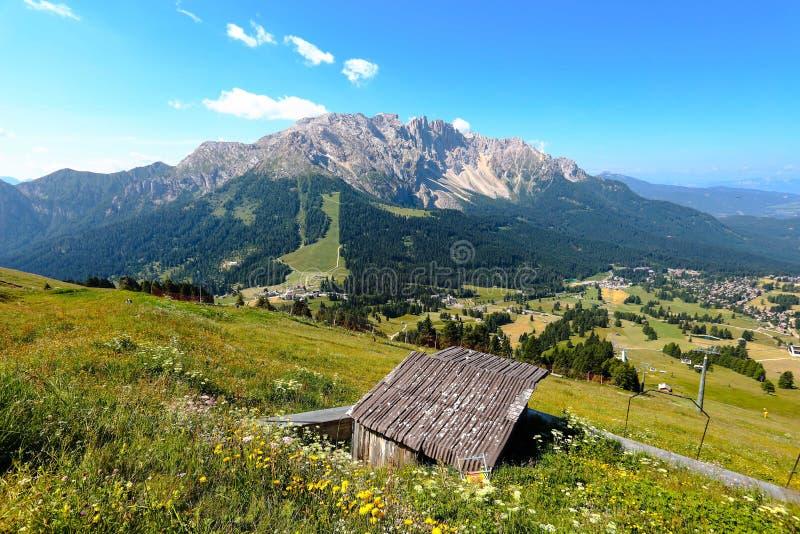Paysage des Alpes de dolomites, Italie image libre de droits