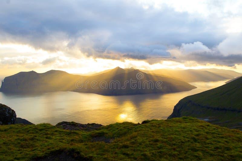 Paysage des Iles Féroé photographie stock libre de droits