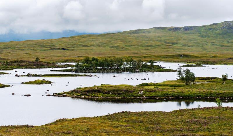Paysage des marais écossais image libre de droits