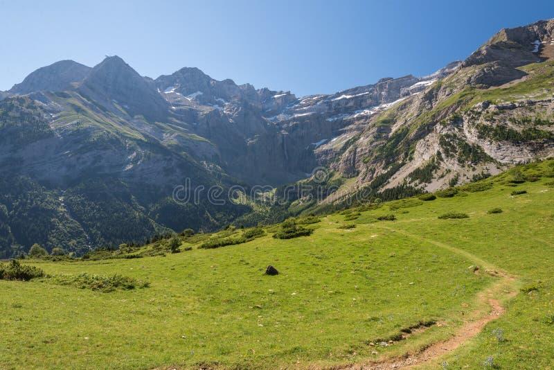 Paysage des montagnes de Pyrénées photographie stock libre de droits