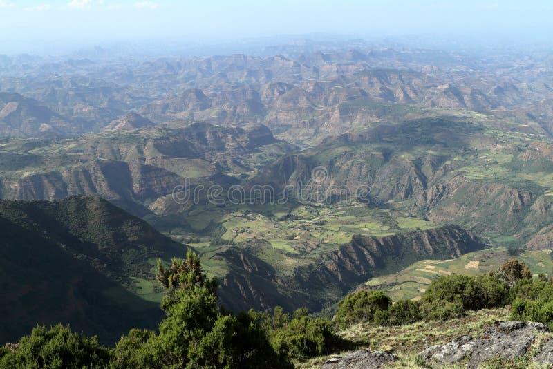 Paysage des montagnes de Simien en Ethiopie photo libre de droits