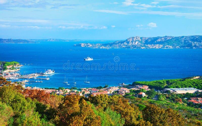 Paysage des Palaos et de Maddalena Island Sardinia photos stock