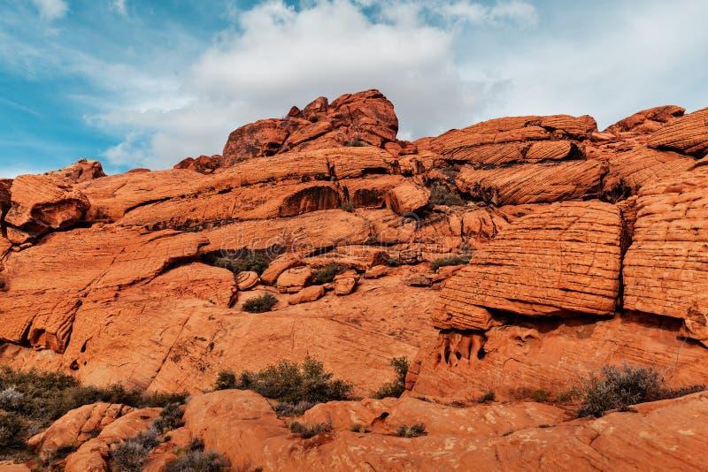 Paysage des roches rouges au canyon rouge de roche, Etats-Unis photo libre de droits