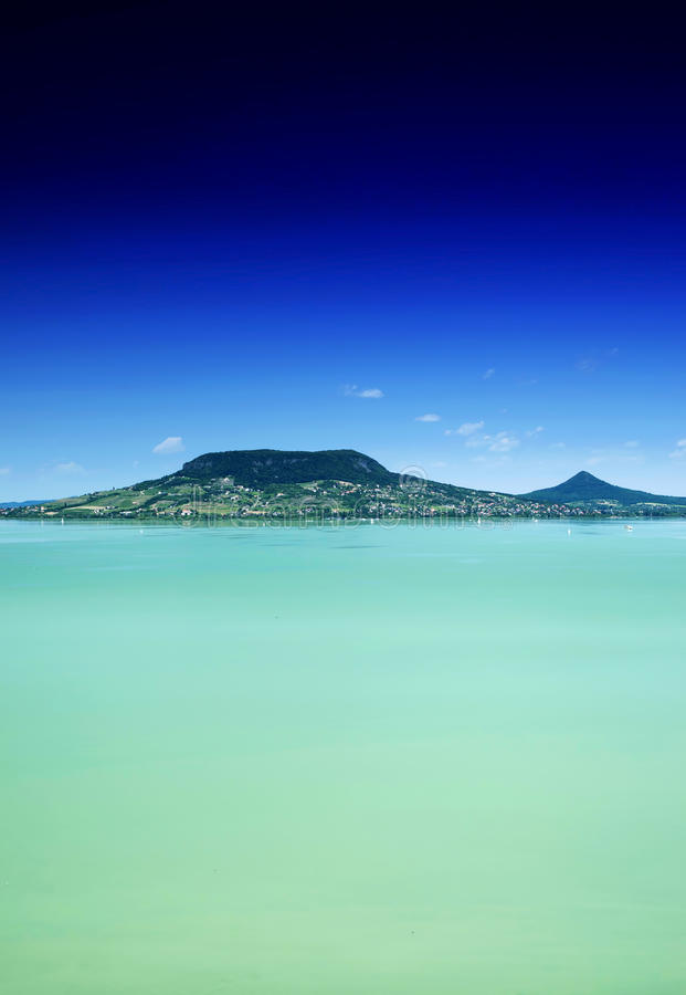 Paysage du Lac Balaton photo stock