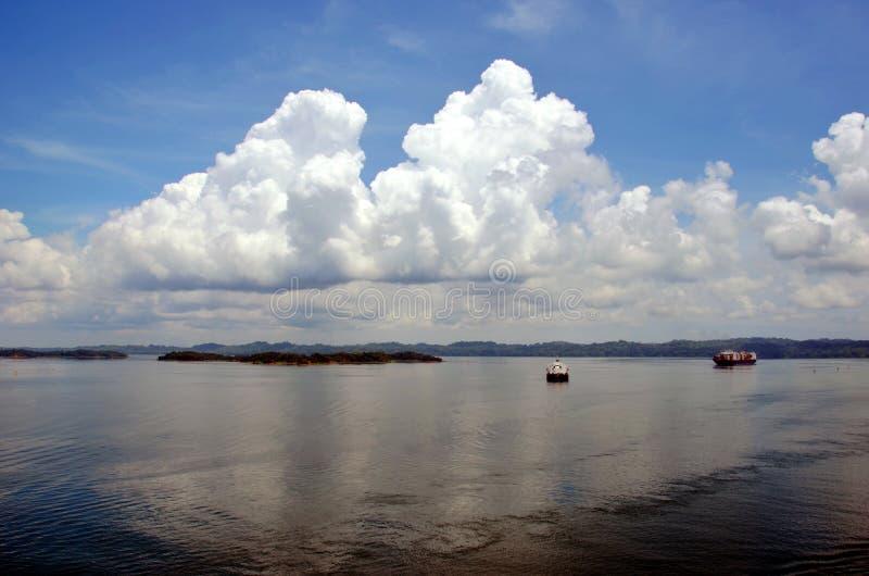 Paysage du lac Gatun photo stock