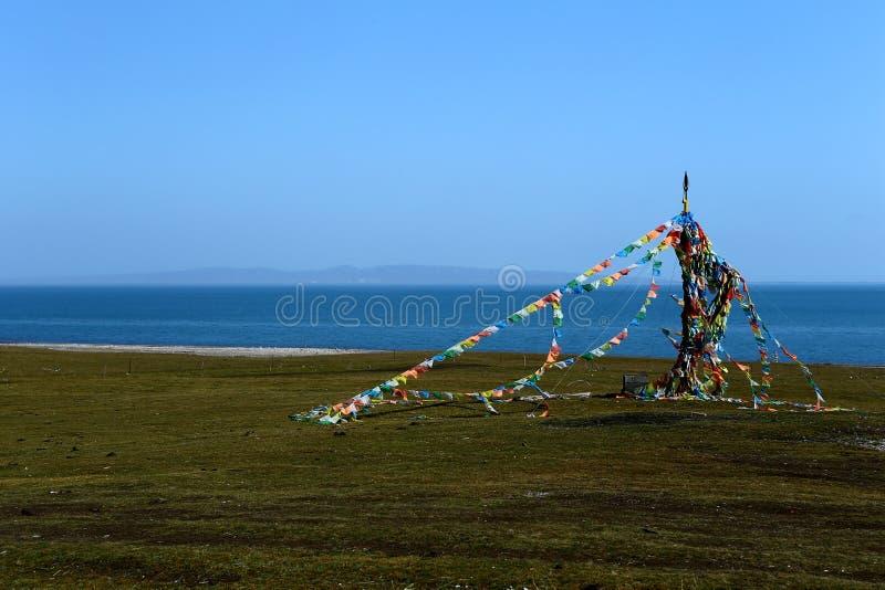 Paysage du Lac Qinghai photo stock