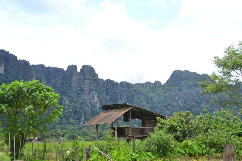 Paysage du Laos photographie stock libre de droits