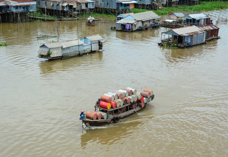 Paysage du Mekong au Vietnam du sud image stock