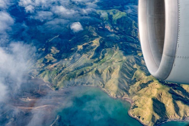 Paysage du nord d'antenne d'île de la Nouvelle Zélande images stock