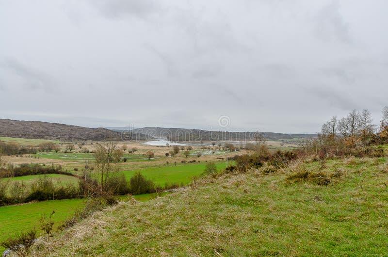 Paysage du nord de Palencia image libre de droits