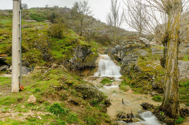 Paysage du nord de Palencia photographie stock