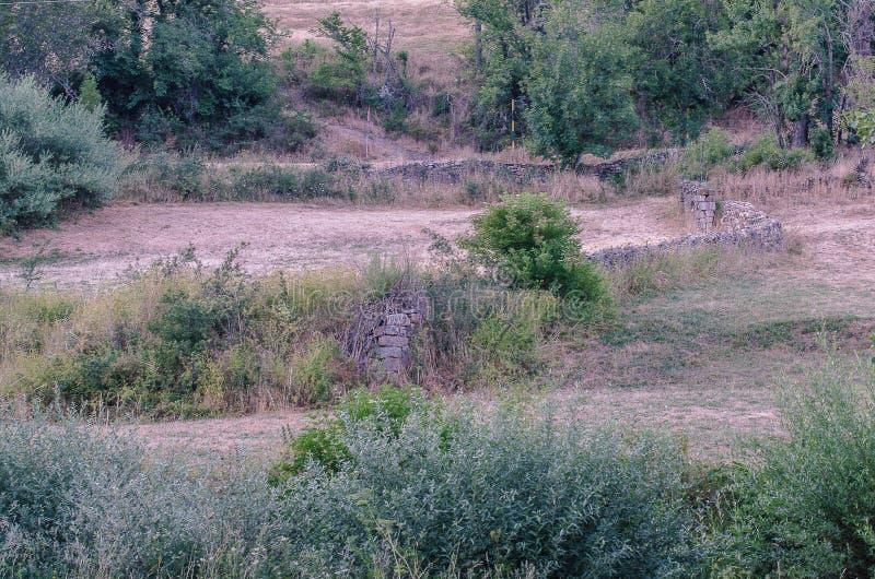 Paysage du parc naturel de Fuentes Carrionas Palencia image stock