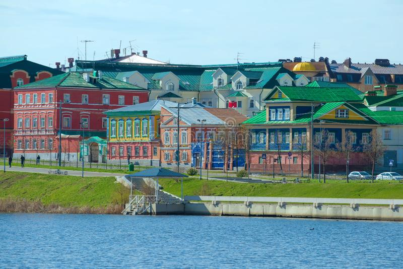Paysage du règlement tatar, Kazan photos stock