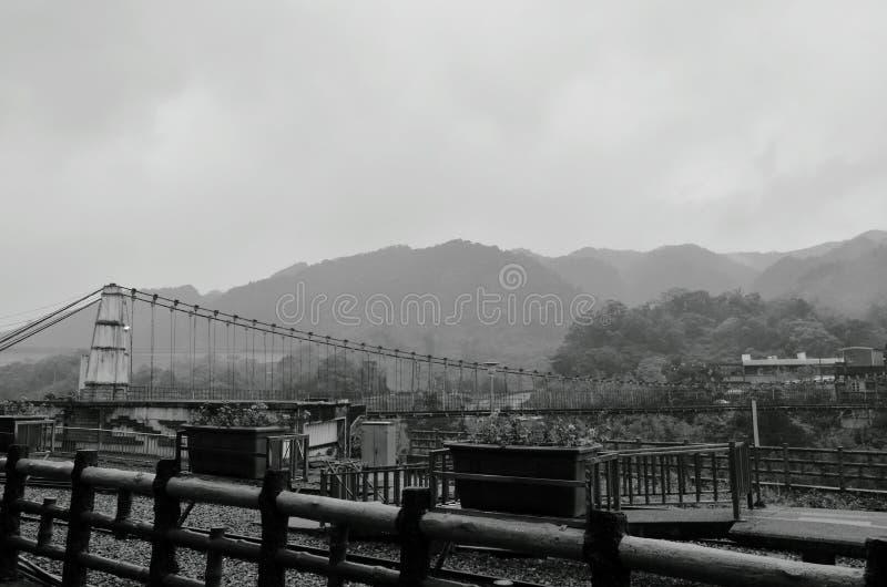 Paysage du stationnement de montagne et de train à la station de Dahua dans Shifen Taïwan image stock