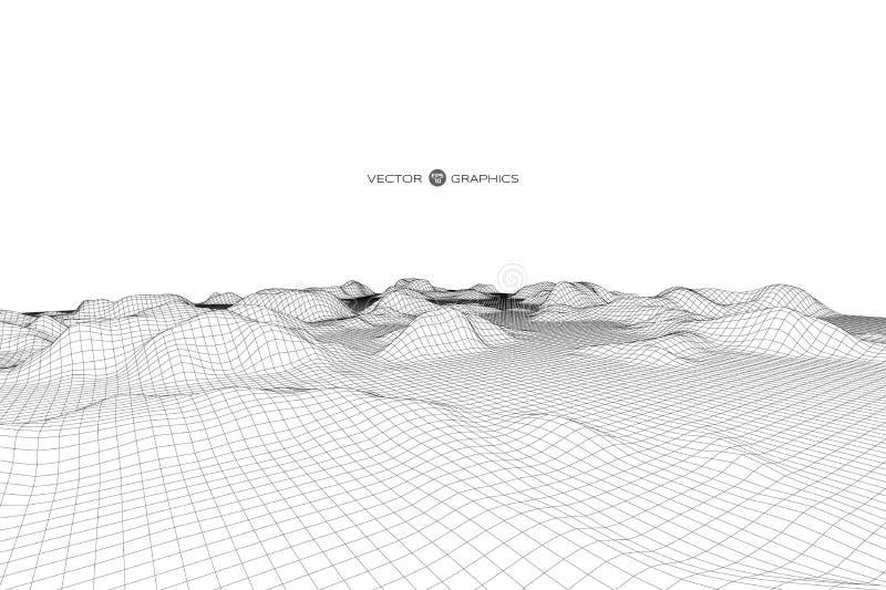 paysage du vecteur 3D illustration libre de droits