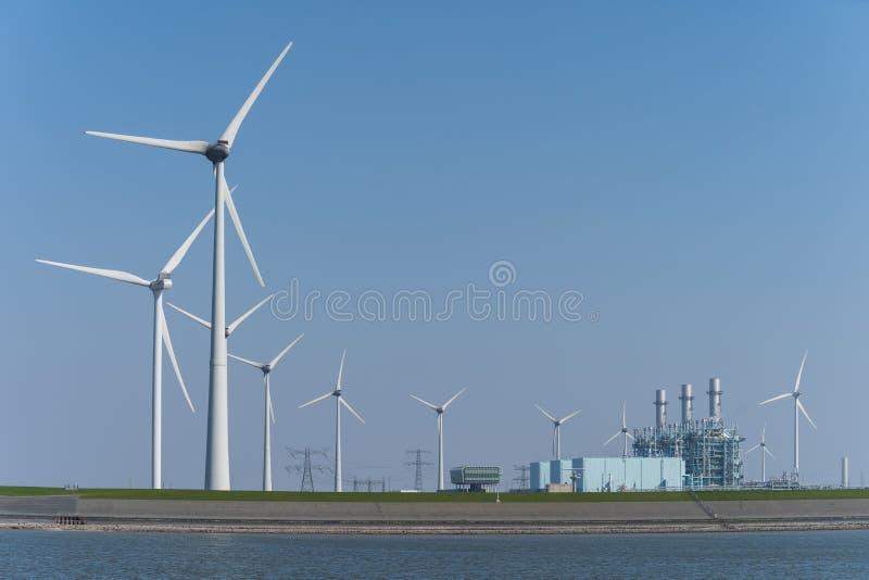Paysage Eemshaven de production énergétique photos libres de droits