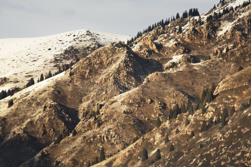 Paysage en gorge de Grigoriev kyrgyzstan photo stock