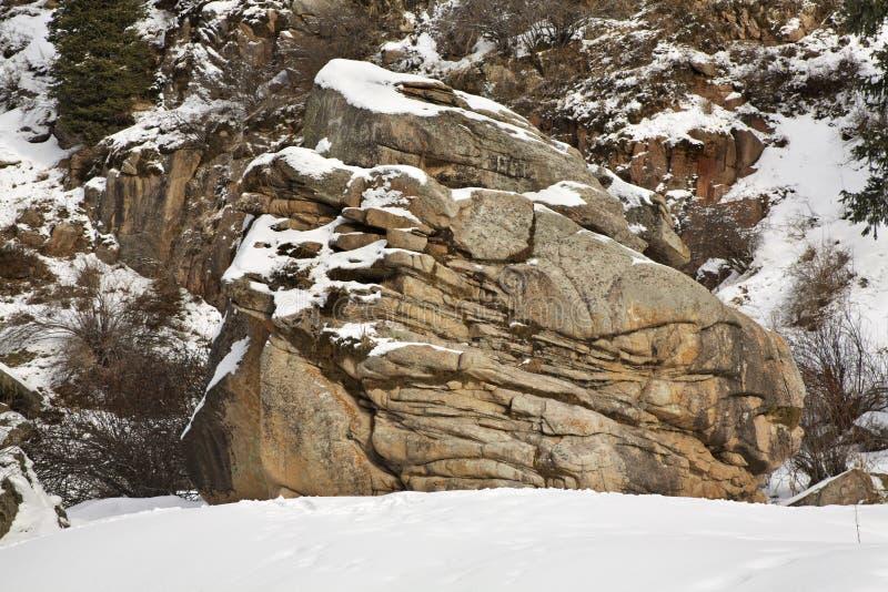 Paysage en gorge de Grigoriev kyrgyzstan images stock