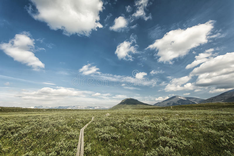 Paysage en Laponie, Suède image stock