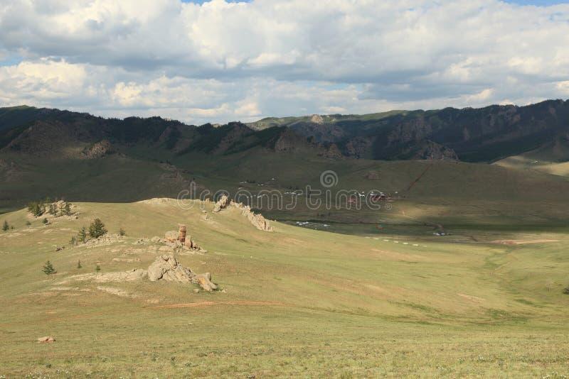 Paysage en Mongolie photos libres de droits