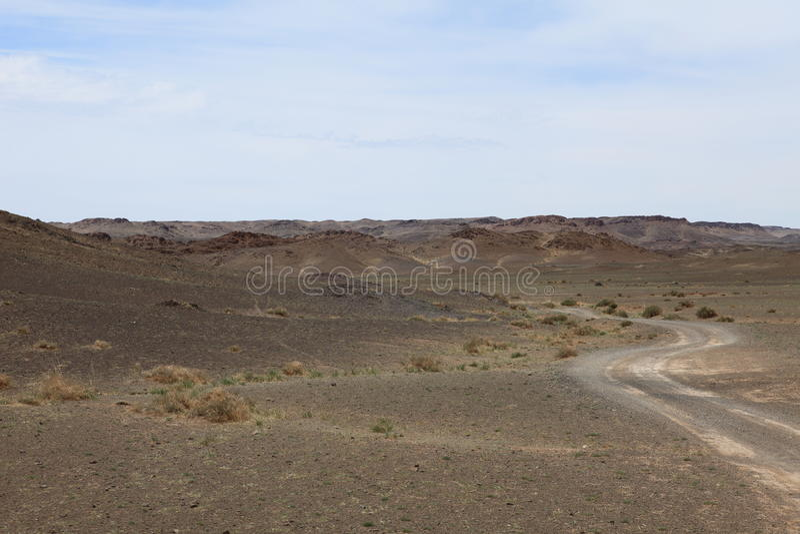 Paysage en Mongolie photo stock